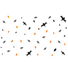 seamless halloween pattern with flying bats and vector image