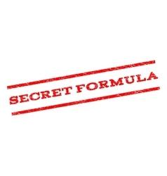 Secret Formula Watermark Stamp vector image