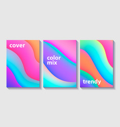 set of creative design covers or posters vector image