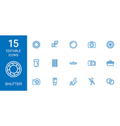 Shutter icons vector