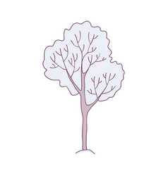 snowy tree - winter decorative vector image