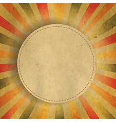 Square Shaped Sunburst With Speech Bubble vector image vector image