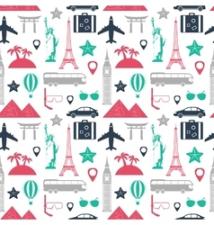 Travel and tourism seamless pattern vector image