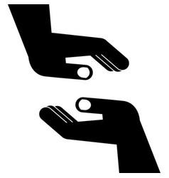 Two halps hands vector