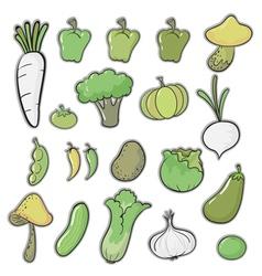 various vegetables vector image