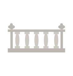 vintage railing made stone or gypsum vector image