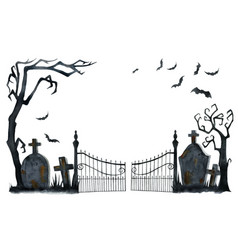 Watercolor happy halloween card isolated on vector