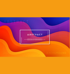 wavy colorful background with 3d style vector image