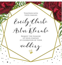 Wedding floral stylish invite card design vector
