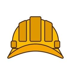 cartoon helmet head protective industrial design vector image