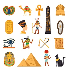 Egypt Touristic Icons Set vector image vector image