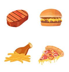 fat food icon cartoon vector image