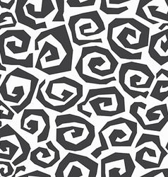 monochrome spiral seamless pattern vector image