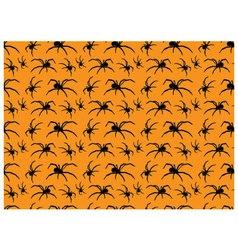 Seamless pattern halloween spiders vector image