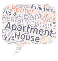Should You Rent A House Or An Apartment 1 text vector image vector image