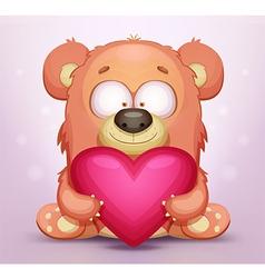 Cute Teddy Bear with Heart vector image
