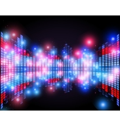Equalizer on abstract technology background vector image vector image