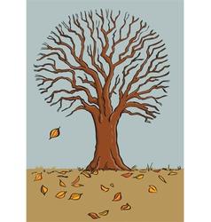 fall tree vector image vector image