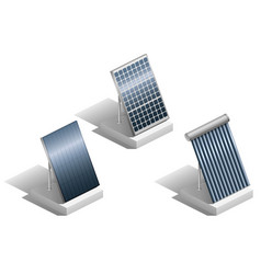 set of solar panels vector image vector image
