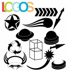 simple logos vector image vector image
