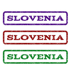 slovenia watermark stamp vector image vector image