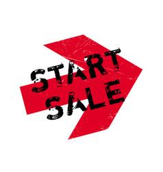 Start sale rubber stamp vector
