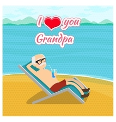 Happy grandparents day poster concept I vector image vector image
