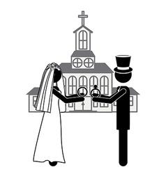 Married design vector image