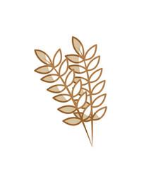 silhouette healthy wheats organ plant nutricious vector image vector image
