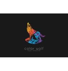 Wolf logo Color wolf logo design Animal logo vector image
