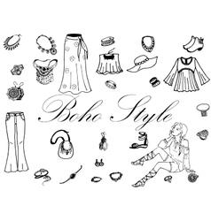 Fashion women clothes vector image vector image