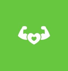 Healthy icon vector image
