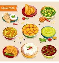 Indian Food Set vector image