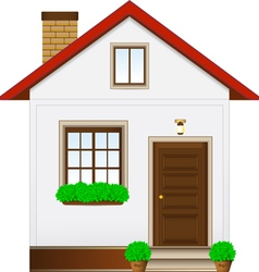 isolated country house vector image