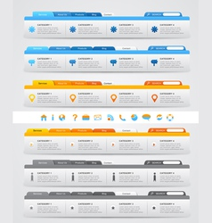 Navigation Menus for Website vector image vector image