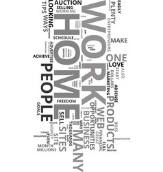 would you love to work from home text word cloud vector image vector image