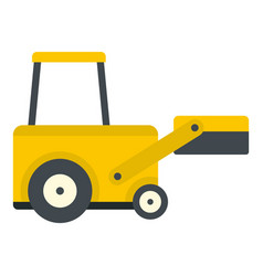 yellow truck to lift cargo icon isolated vector image