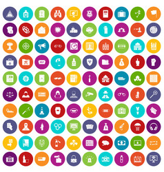 100 crime icons set color vector