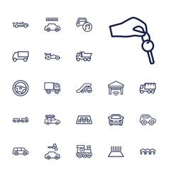 22 automobile icons vector