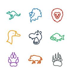9 wild icons vector