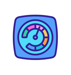 Acceleration indicator icon outline vector