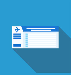 air ticket icon vector image