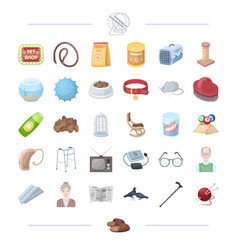 Animal veterinarian cleaning and other web icon vector