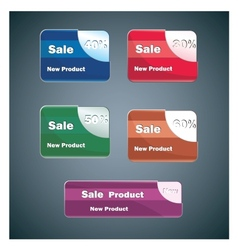 Banners of different colors vector image