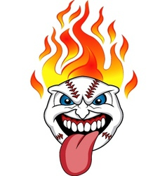 baseball fire vector image