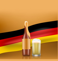 bavarian oktoberfest concept banner realistic vector image