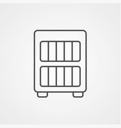bookcase icon sign symbol vector image
