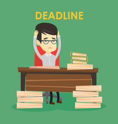 business man having problem with deadline vector image