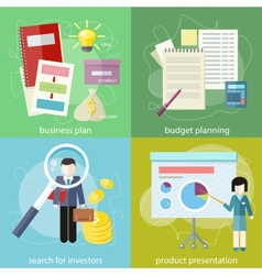Business plan budget planning search investors vector image