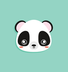 Cartoon panda face vector